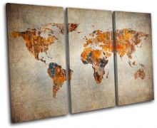 Grunge World Atlas Maps Flags - 13-0539(00B)-TR32-LO